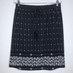 LOFT Skirt Medium Floral Geometric Side Pockets
